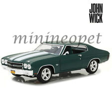 GREENLIGHT 13505 JOHN WICK MOVIE 1970 CHEVROLET CHEVELLE SS 396 1/18 GREEN