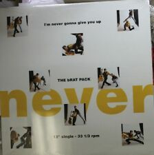 """Rock Sealed 12"""" Lp The Brat Pack I'M Never Gonna Give You Up On A&M"""