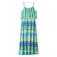 Girls Maxi Dress & Necklace - Size 8 NWT Knitworks Gulf Blue Green