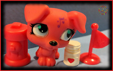 🌺 Littlest Pet Shop Red Music Jack Russell Terrier Dog #2886 w/ Accessories Lot
