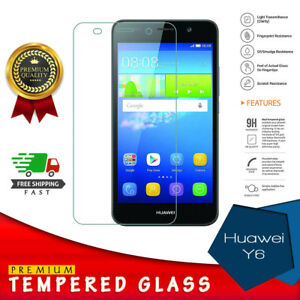 For Huawei Y6/2017 Tempered Glass Screen Guard Protector Premium Protection