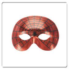 Loup rouge métallisé homme toile d'araignée [70116] deguisement costume carnaval