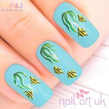 Yellow Fish & Reeds Nail Water Decal Stickers,, Art, Tattoos 01.03.103