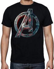 The Avengers Mechanical Logo Action Sci-Fi Superhero Movie Black T Shirt