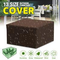 13 Sizes Waterproof Garden Patio Furniture  Rain Snow UV Covers For Rattan   !*
