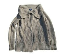 American Eagle Outfitters Womens Open Knit Long Sleeve Sweater Size S/P Brown