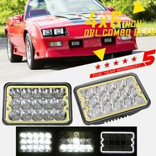 "2x 4x6"" 5x6"" 90W LED Headlight Hi-Lo DRL Beam Sealed Lamp For Chevrolet Camaro"