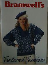 Bramwells Textured Fashions Book - Knitting Machine Book - M835
