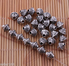 80 pcs 6mm Tibet silver Beads spacers Bracelets necklaces Charms Findings