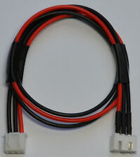 2S JST-XH Balance Tap Extension Adapter - 30CM 20awg Heavy Duty Red / Black Wire