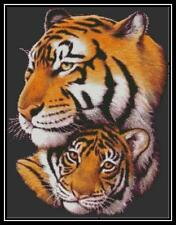 Bengal Tiger & Cub - Cross Stitch Chart/Pattern/Design/XStitch