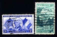 USA - STATI UNITI - 1952 - 175° Anniversario dell'arrivo del marchese de Lafayet