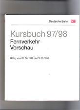 DB  Kursbuch Fernverkehr Vorschau Fahrplan 1997/98