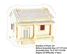New Wooden Assembly Model 3D Puzzles DIY Toy Geduldspiele WAFUUTA Rural House