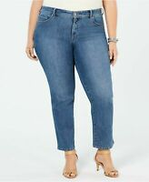 Style & Co Womens Rail Tummy-Control Straight-Leg Jeans Plus Size 16WP NWT
