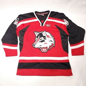 St Cloud State Huskies Hockey Jersey Colosseum Athletics Youth Size Medium Red