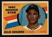 1960 Topps #140 Julio Navarro NM/NM+ RC Rookie Giants RS A3559