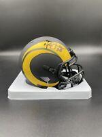 Marshall Faulk Signed Autographed LA Rams Eclipse Mini Helmet Beckett BAS NFL