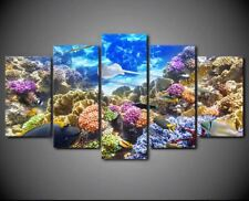 Underwater Corals Reef Fish 5 Pieces canvas Wall Art Print Picture Home Decor