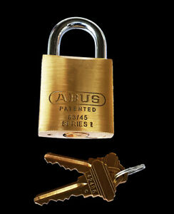 """ABUS 83/45 RE-KEYABLE BRASS PADLOCK WITH #300 SCHLAGE """"C"""" CYLINDER AND 2 KEYS"""