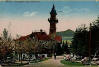 1076: AK Postkarte Görlitz Weinberghaus und Landeskrone gelaufen 1917 Feldpost