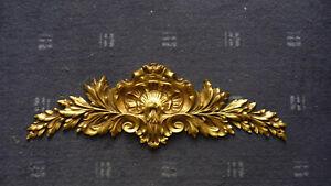 Antique  Gilded Bronze Furniture Pediment Decoration Louis XV St  12 1/2 inches