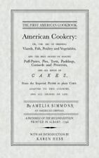 American Cookery by Amelia Simmons (1996, Paperback, Reprint)