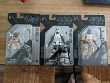 Star Wars Black Series Archive Lot of 3 Excellent Condition (Yoda,Bossk,Scout)