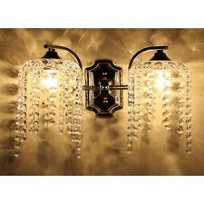 Wall Light Fixture Sconce Chandelier Crystal wall lamp 2 head Ornate Decoration