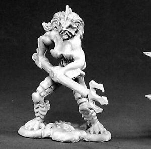 Reaper Miniatures Slithe Warrior #02419 Dark Heaven Legends Unpainted Metal