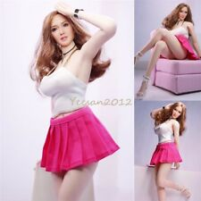 1/6 Figure Toys Female White Vest Pink Short Skirt Clothes Fit 12'' Phicen Body