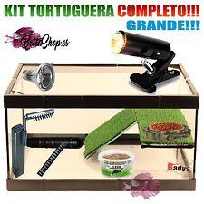 TORTUGUERA DE CRISTAL KIT COMPLETO GRANDE TORTUGUERAS CRISTAL ACUARIO TORTUGAS