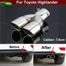 1x Double Exhaust Muffler Tail Pipe Tip Tailpipe For Toyota Highlander 2009-2018