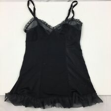 Victoria's Secret Sexy Little Things Black Sheer Sexy Teddy Top Size M Lingere