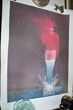 "Awesome ELECTRIC SHOES 20"" x 27"" AUTOGRAPHED ELEKTRA PRINT by Bill Sienkiewicz"