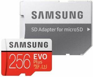 256GB Micro SD Karte Speicherkarte SDXC Class10 Samsung Evo Plus