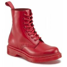 Dr. Martens  Women's 1460 Pascal Poppy Red Mono Boots ALL SIZES Ret.$140!