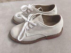 Boys Polo Ralph Lauren Tan Suede Dress Shoes Size 8