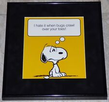 PEANUTS SNOOPY FRAMED VINTAGE POSTER PRINT CHARLES SCHULZ BUGS PEST CONTROL