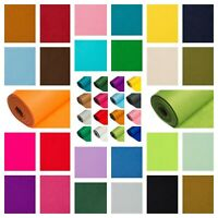 5 metre Mini Roll super SOFT Acrylic Craft Felt Fabric in 48 Colours Made In UK