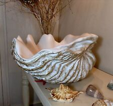 Sculptured Giant Clam Shell Bathroom Sink Wash Basin Counter Top Cloakroom Gift
