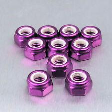 Aluminium Nylock Nuts M5 Pack x 10 Purple