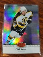 2007 Fleer Flair Showcase hockey rookie update #303 Phil Kessel Bruins