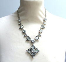 Butler and Wilson Clear AB Cabochon Crystal  Necklace 45th Anniversary NEW