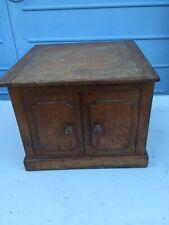 Antique Wooden Square Box Cupboard 35cm x 36cm x 29cm needs tlc