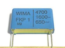 4700pF, 4,7nF, 1600V- 650V~ 10%, RM 22,5 WIMA, FKP1, FKP1T014705D00KD0, 8 Stück