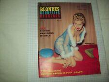 Blondes Brunettes Redheads Magazine #3 1960 Fine Condition