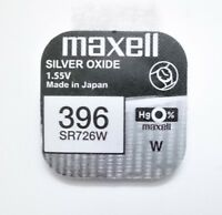 Pila MAXELL 396 - SR726SW - Silver Oxide - Made In Japan - Original