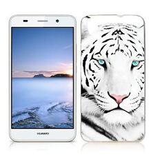 Coque Etui Huawei Y 6 II ( 2016 ) Motif Tigre Blanc - Envoi en Suivi