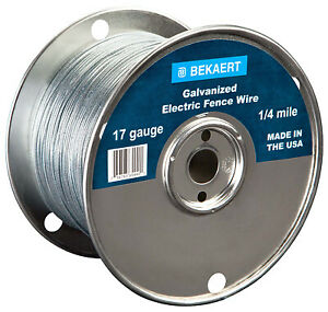 119752 17-Gauge Electric Fence Wire, 1320-Ft. - Quantity 1